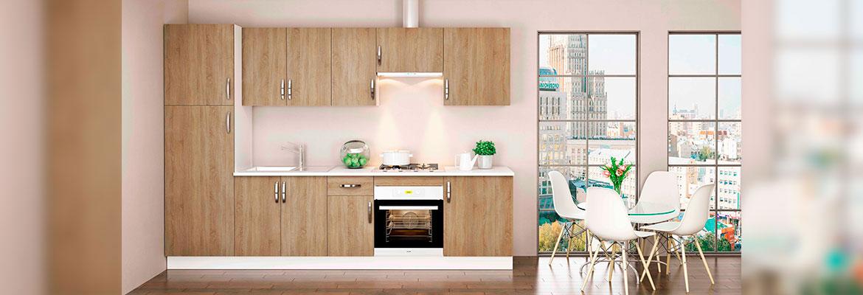 Muebles De Cocina Kit Kit Color Roble Cortez Con 10