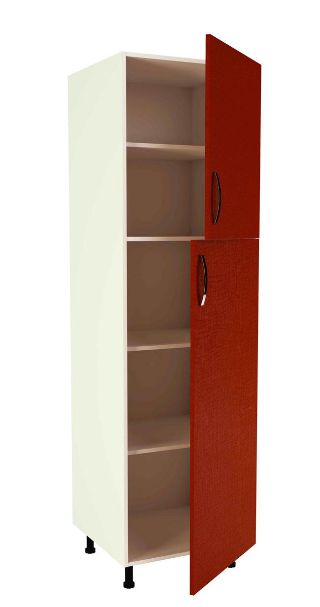 Mueble de cocina modelo kit kit color rojo burdeos en kit - Armario escobero cocina ...