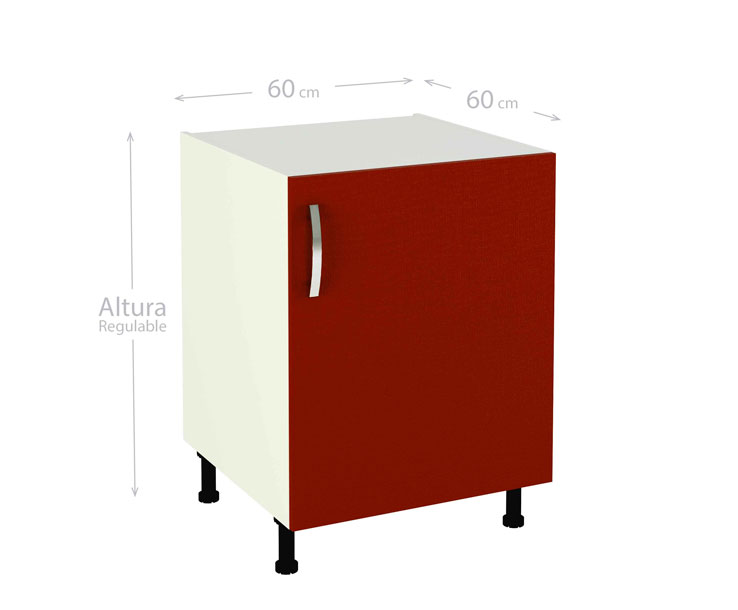 Mueble de cocina modelo kit & kit color rojo burdeos en kit