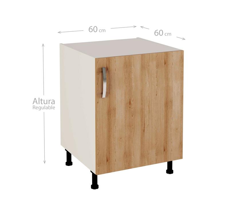 Muebles de cocina modelo kit kit color haya natural for Modulos de cocina baratos