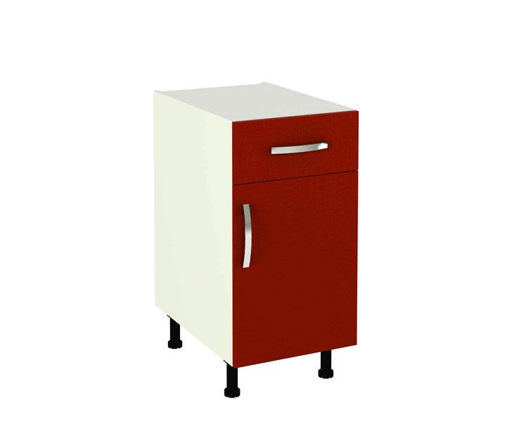 Mueble de cocina modelo kit kit color rojo burdeos en kit - Cocinas color burdeos ...