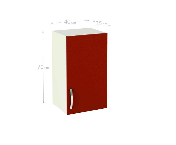 Mueble rojo burdeos 20170906133638 - Cocinas color burdeos ...