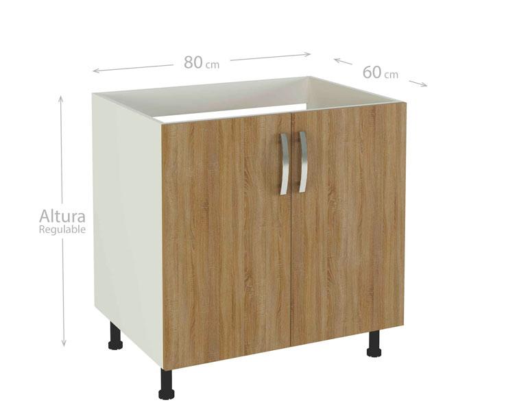Muebles de cocina kit kit color roble cortez para montar for Muebles de cocina para montar